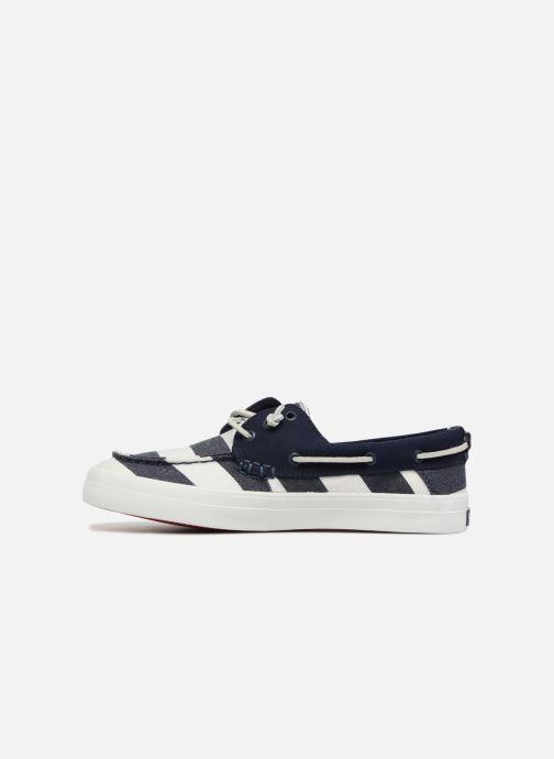 Chaussures à lacets Sperry Crest Resort Breton Stripe Bleu vue face
