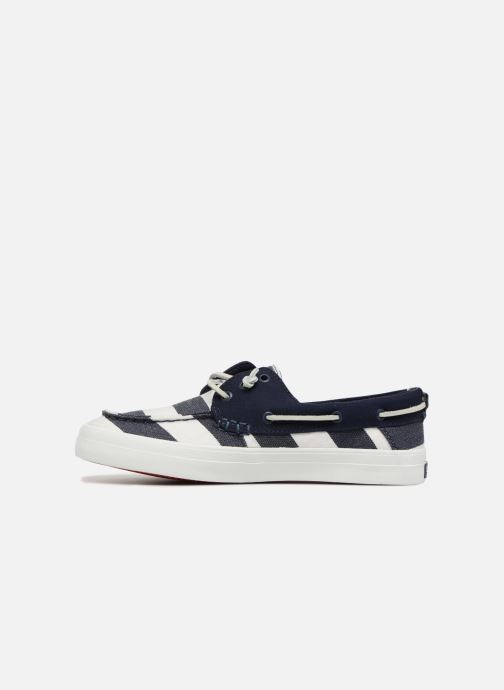 Lace-up shoes Sperry Crest Resort Breton Stripe Blue front view