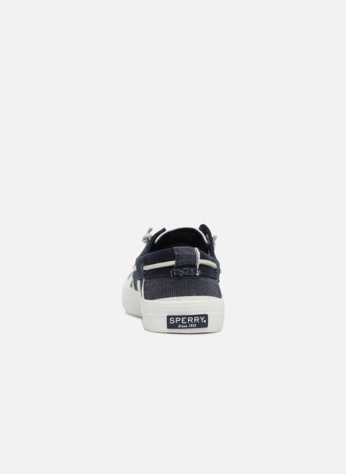 Lace-up shoes Sperry Crest Resort Breton Stripe Blue view from the right