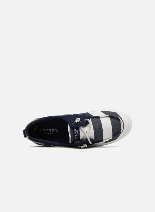 Lace-up shoes Sperry Crest Resort Breton Stripe Blue view from the left