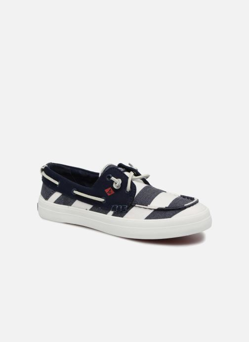 Lace-up shoes Sperry Crest Resort Breton Stripe Blue detailed view/ Pair view