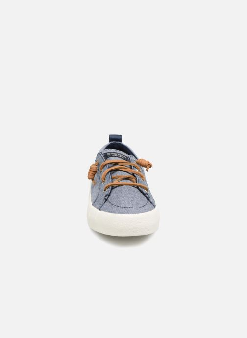 Baskets Sperry Crest Vibe Crepe Chambray Bleu vue portées chaussures
