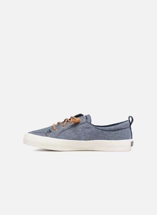 Baskets Sperry Crest Vibe Crepe Chambray Bleu vue face