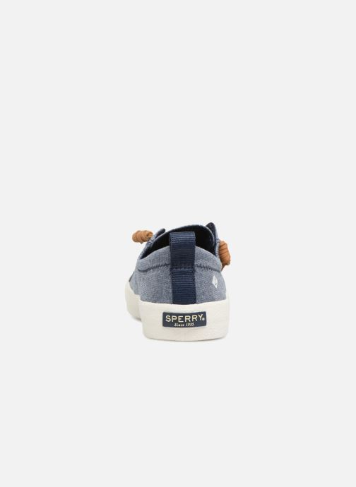 Baskets Sperry Crest Vibe Crepe Chambray Bleu vue droite