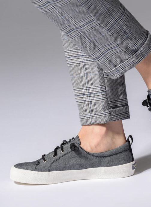 Trainers Sperry Crest Vibe Crepe Chambray Grey view from underneath / model view