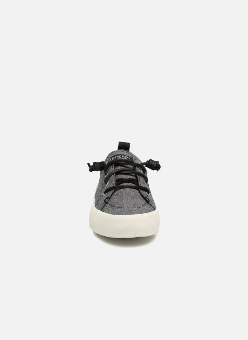 Baskets Sperry Crest Vibe Crepe Chambray Gris vue portées chaussures