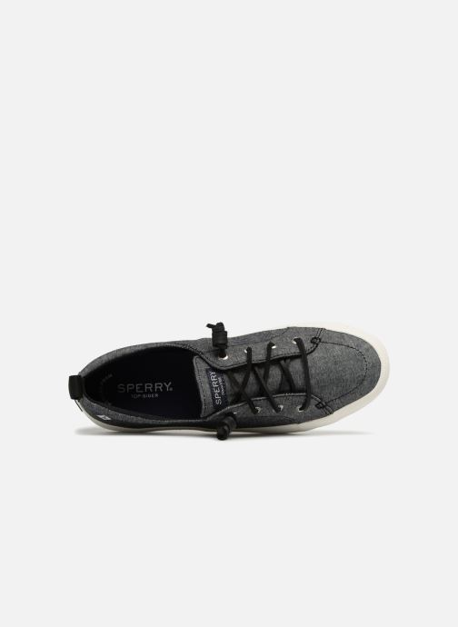 Baskets Sperry Crest Vibe Crepe Chambray Gris vue gauche