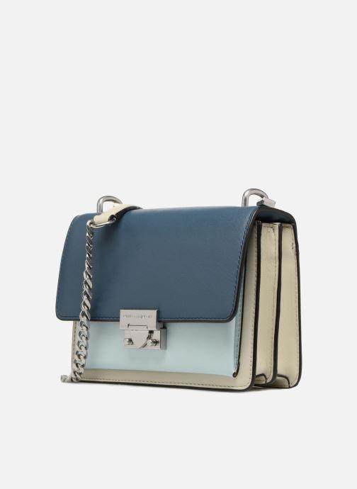 Sacs à main Rebecca Minkoff Christy SM Shoulder Bag Bleu vue portées chaussures