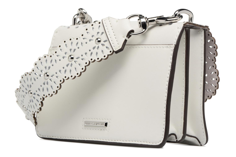 Sacs à main Rebecca Minkoff Christy SM Shoulder Bag Blanc vue droite