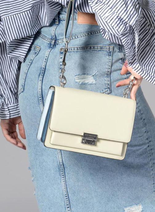 Bolsos de mano Rebecca Minkoff Christy MD Shoulder Bag Blanco vista de abajo