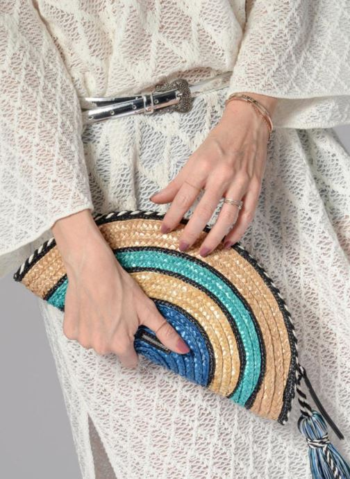 Clutch bags Rebecca Minkoff Straw Taco Clutch Blue view from underneath / model view