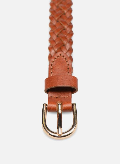Belts Pieces Avery Leather Braided Slim Belt 1,90cm Brown model view