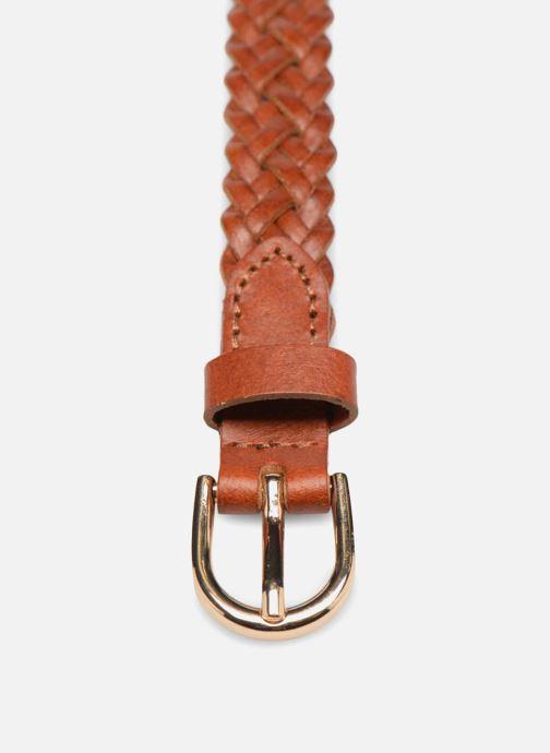 Riemen Pieces Avery Leather Braided Slim Belt 1,90cm Bruin model