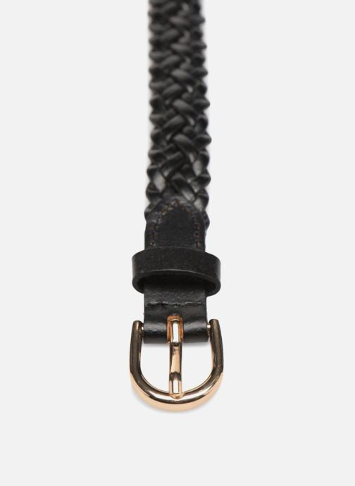 Skärp Pieces Avery Leather Braided Slim Belt 1,90cm Svart bild av skorna på
