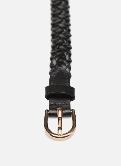 Riemen Pieces Avery Leather Braided Slim Belt 1,90cm Zwart model