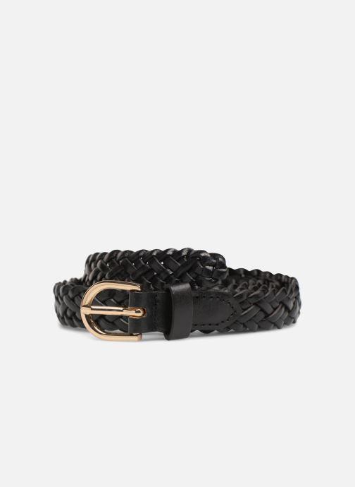 Riemen Pieces Avery Leather Braided Slim Belt 1,90cm Zwart detail