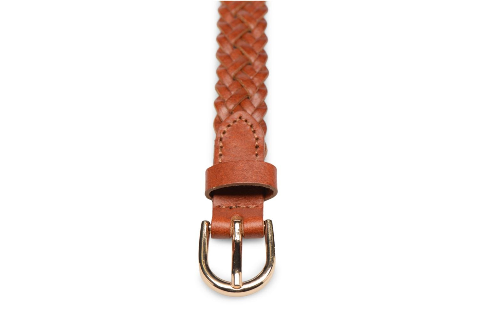 Bælter Pieces Avery Leather Braided Slim Belt 1,90cm Brun se skoene på