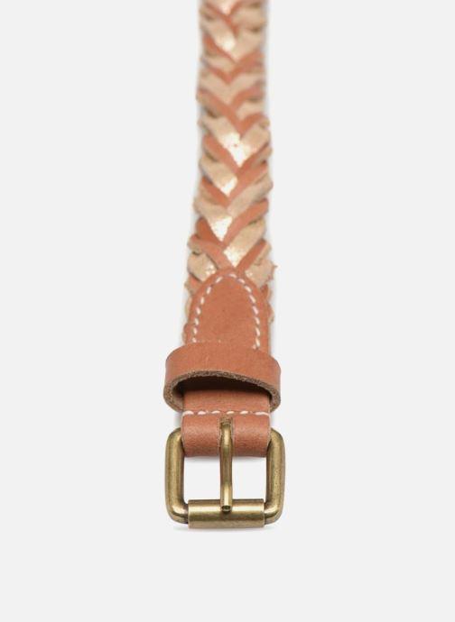 Cinturones Pieces Nadine Leather Belt 2cm Marrón vista del modelo