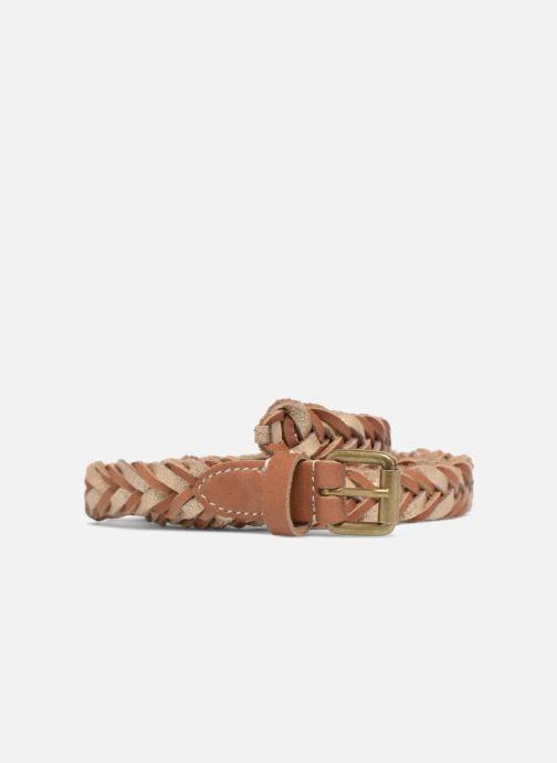 Cinturones Pieces Nadine Leather Belt 2cm Marrón vista de detalle / par