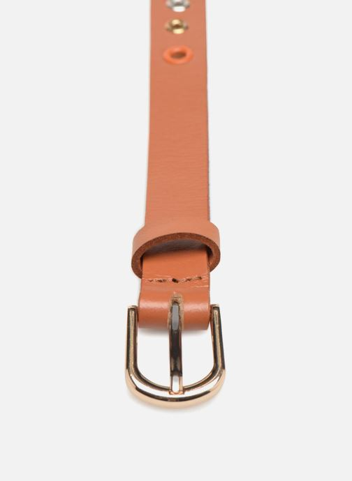 Cinturones Pieces Ivana Leather Belt 2cm Marrón vista del modelo