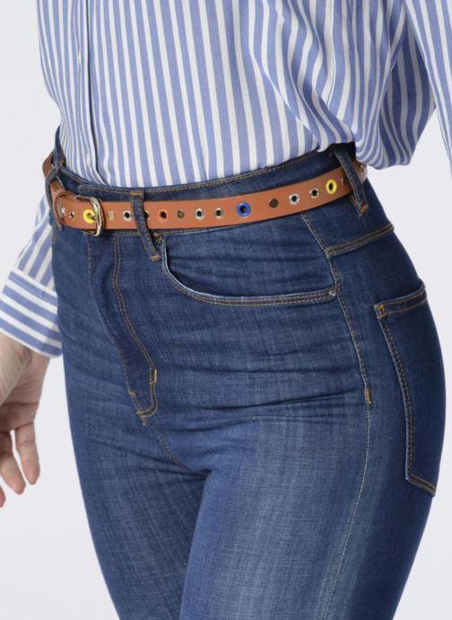 Cinturones Pieces Ivana Leather Belt 2cm Marrón vista de arriba