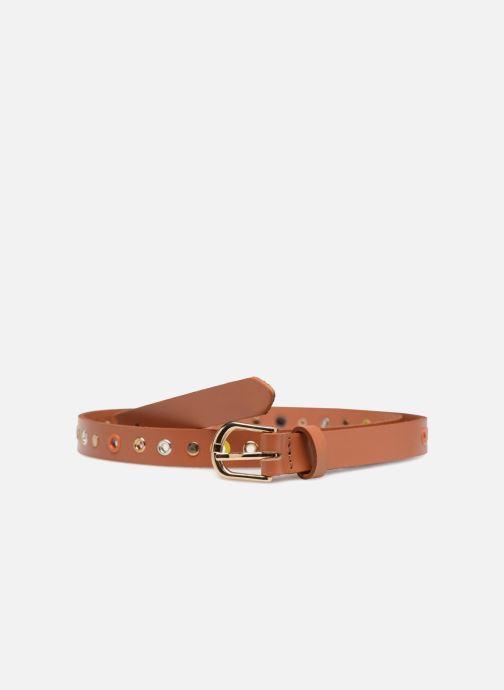 Cinturones Pieces Ivana Leather Belt 2cm Marrón vista de detalle / par