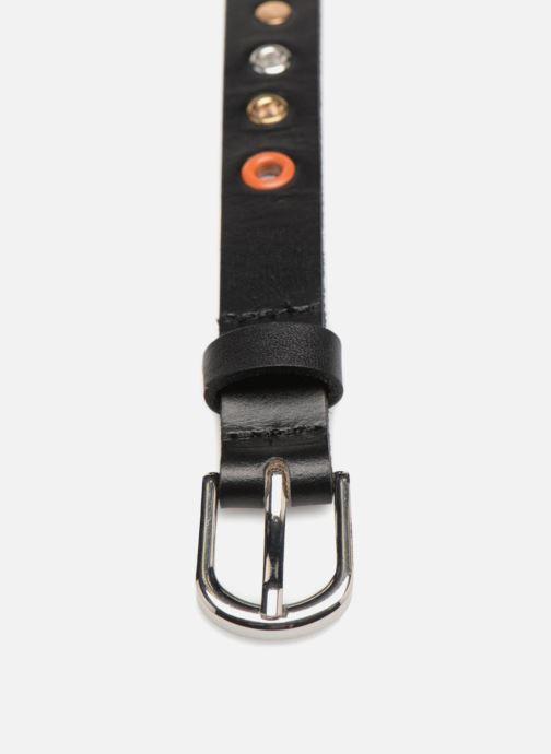 Cinture Pieces Ivana Leather Belt 2cm Nero modello indossato