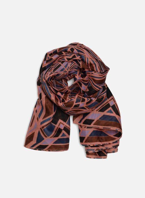 Halsduk och scarf Pieces Irena Tube Scarf Rosa detaljerad bild på paret