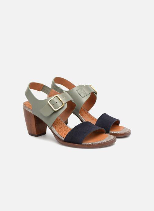 Sandals Chie Mihara Queva32 Blue 3/4 view