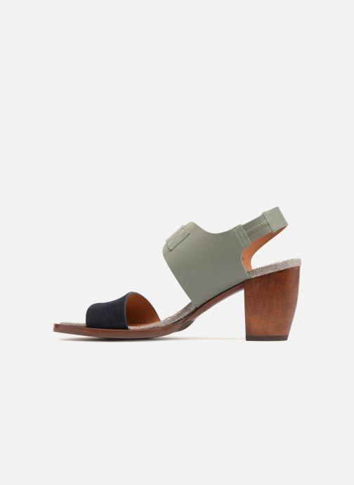 Sandales et nu-pieds Chie Mihara Queva32 Bleu vue face