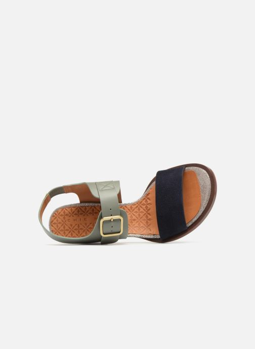 Sandals Chie Mihara Queva32 Blue view from the left