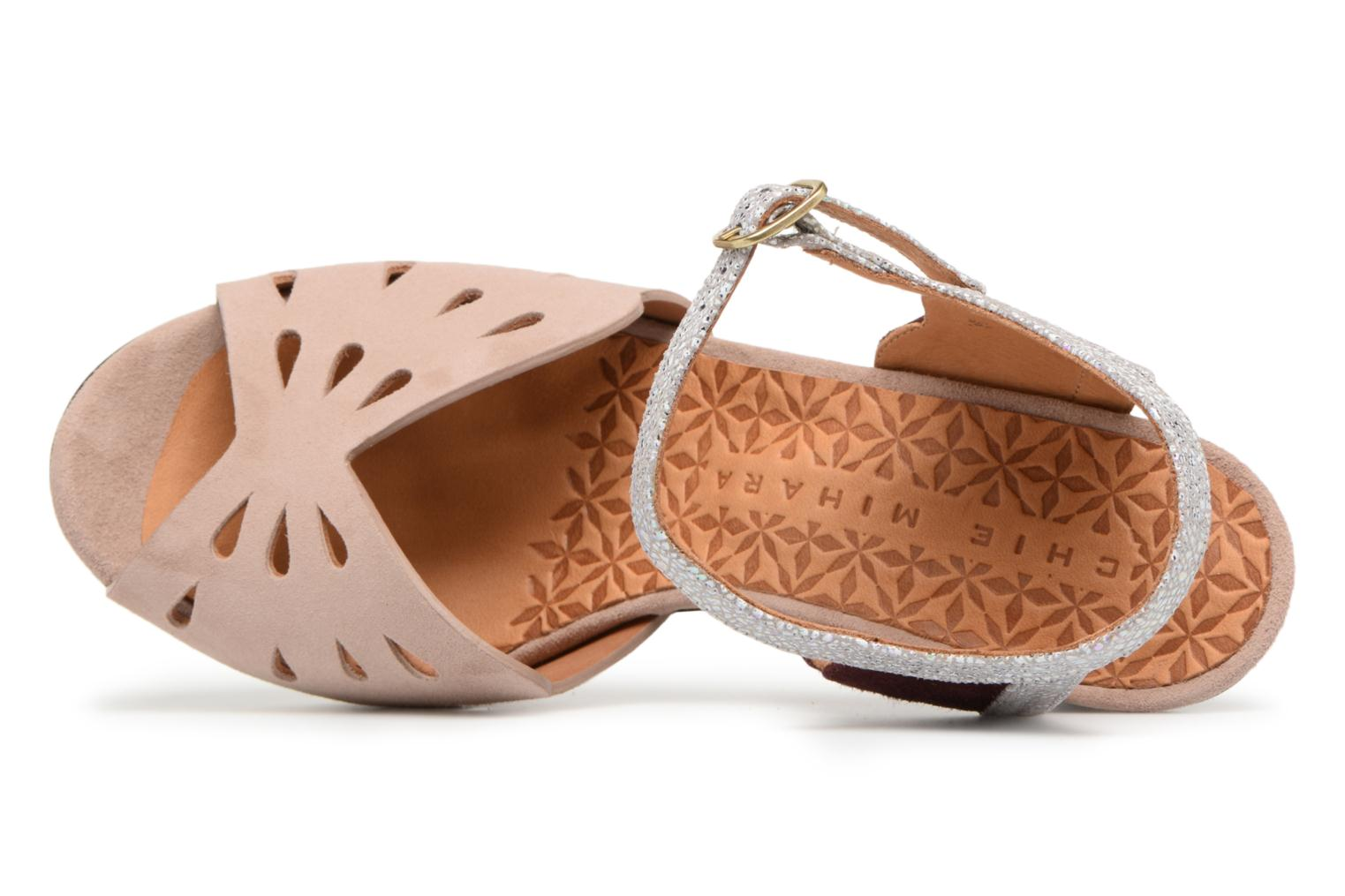 Sandals Chie Mihara Loha32 Beige view from the left