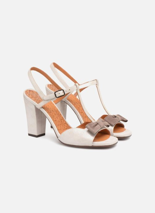 High heels Chie Mihara Braile Silver 3/4 view
