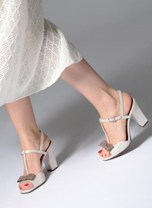 High heels Chie Mihara Braile Silver view from underneath / model view