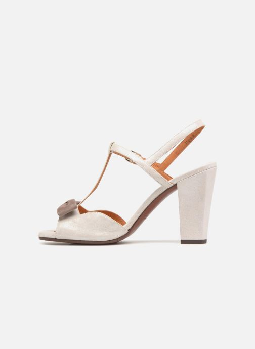 High heels Chie Mihara Braile Silver front view
