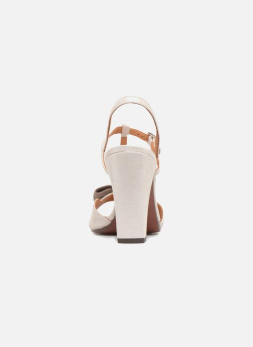 High heels Chie Mihara Braile Silver view from the right