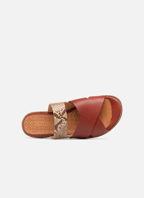 Mules & clogs Chie Mihara Wanda Red view from the left