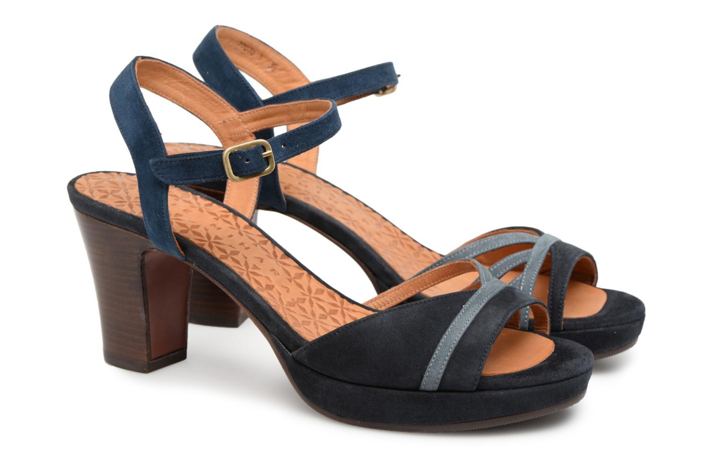 Sandals Chie Mihara Basi Blue 3/4 view