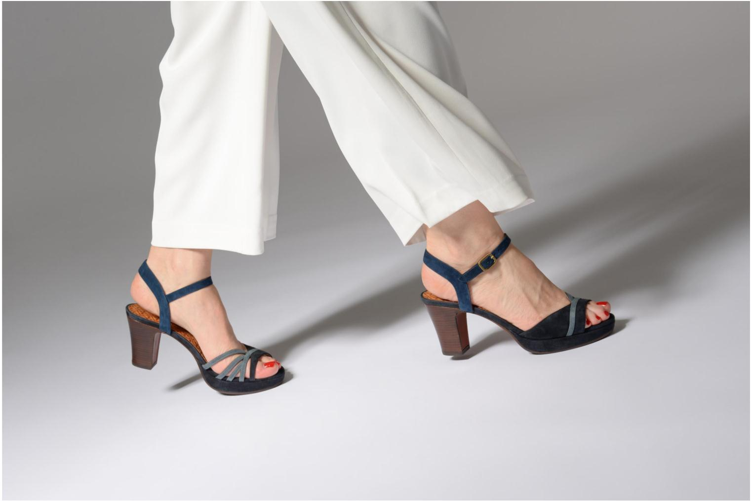 Sandals Chie Mihara Basi Blue view from underneath / model view
