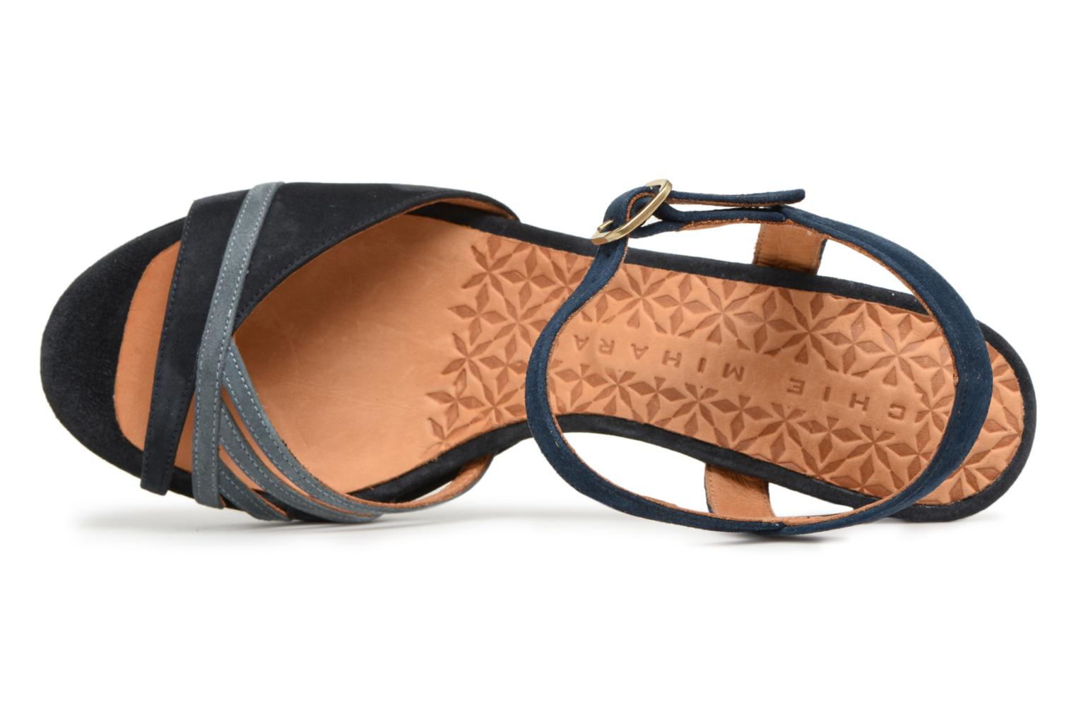 Sandals Chie Mihara Basi Blue view from the left