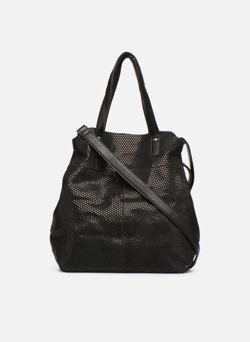 Handbags Pieces Gunn Suede Bag Black front view