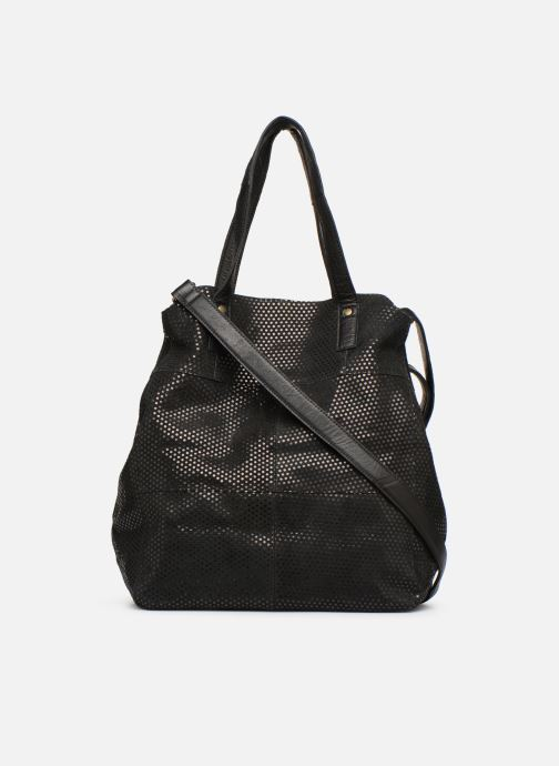 Handtassen Pieces Gunn Suede Bag Zwart voorkant