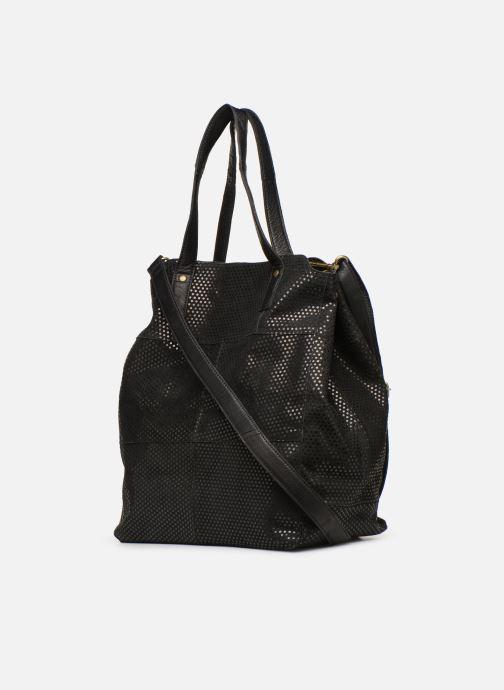 Bolsos de mano Pieces Gunn Suede Bag Negro vista lateral derecha