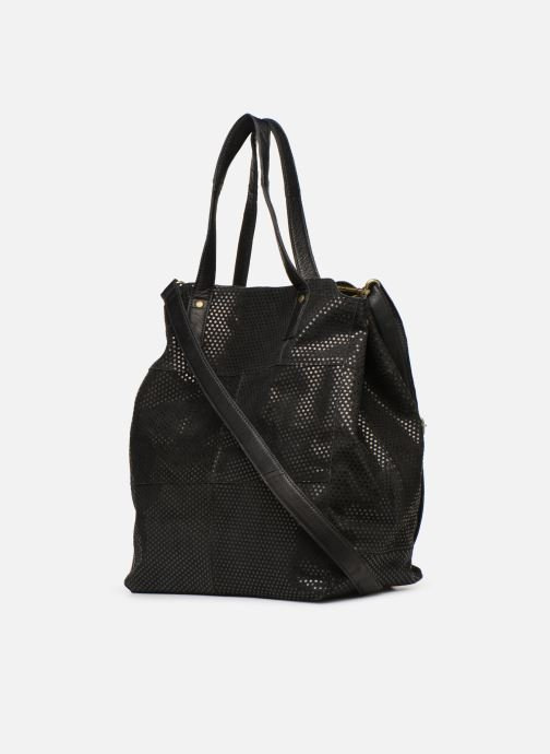Handbags Pieces Gunn Suede Bag Black view from the right