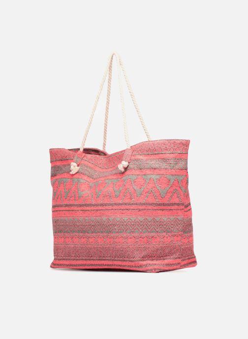 Handtaschen Pieces Grace Canvas Shopper rosa schuhe getragen