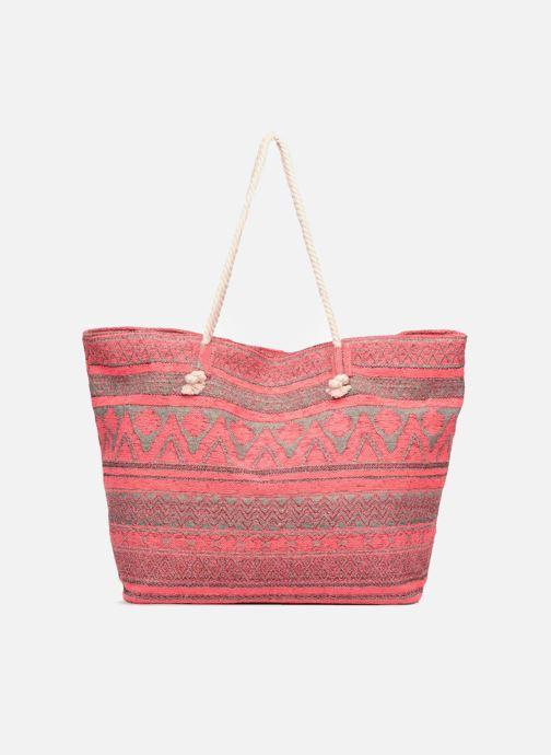 Handtaschen Pieces Grace Canvas Shopper rosa ansicht von vorne