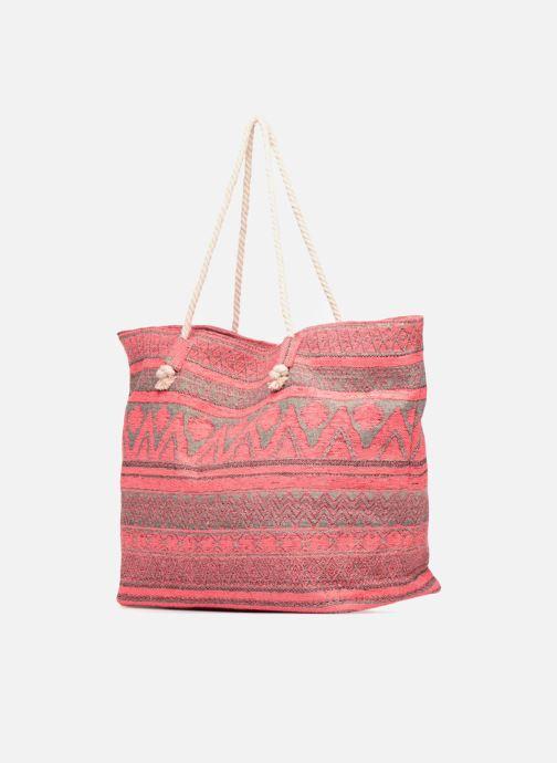 Handtaschen Pieces Grace Canvas Shopper rosa ansicht von rechts