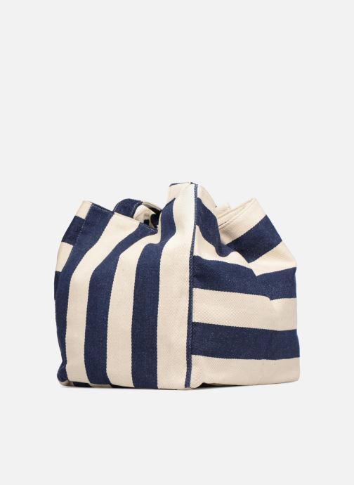 Sacs à main Pieces Gillian Canvas Shopper Bleu vue portées chaussures