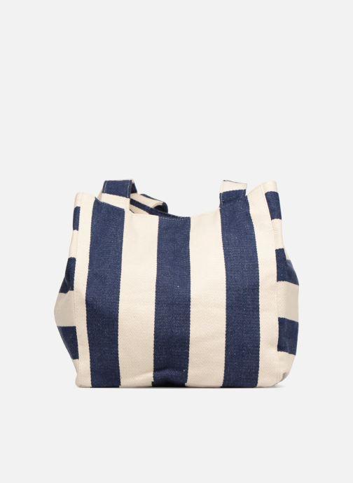 Handtassen Pieces Gillian Canvas Shopper Blauw voorkant