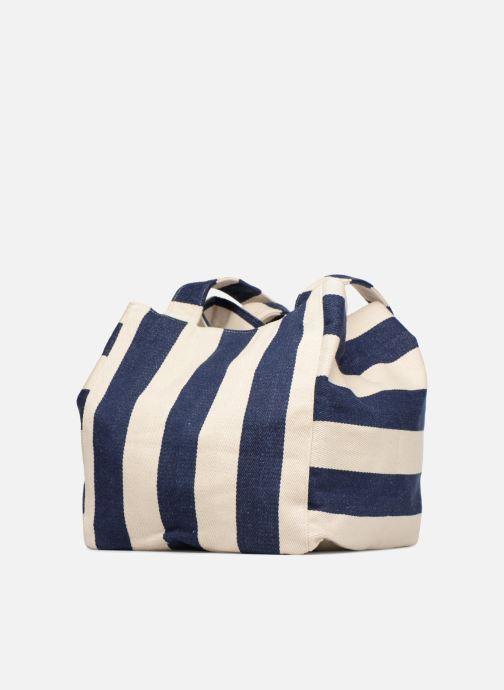 Handtassen Pieces Gillian Canvas Shopper Blauw rechts